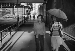 Under the Bridge (doyleshafer) Tags: street japan umbrella 50mm tokyo area marunouchi d4 f18g