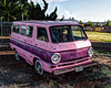 Funky Two-Tone Pink Dodge Van in HDR (eoscatchlight) Tags: pink funky dodge mopar hdr cheesey southernoregon dodgevan photomatix