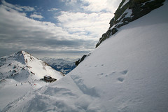 Over The Corner (Katka S.) Tags: winter sky white snow mountains alps clouds landscape austria high freeze zillertal fros