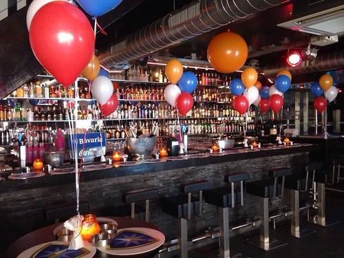 Tafeldecoratie 4ballonnen Haringparty Bar Tops Spijkenisse