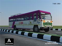 MSRTC 2X2 HIRKANI (ASIAD) 3D MODEL (TATA 1512 BODY BUILT BY ANTONY) (ADITYA's MSRTC (TATA TERRITORY)) Tags: bus st 3d tata goa bombay maharashtra thane mumbai antony pune lonavala cwa satara nagpur dadar citybus ratnagiri ganapatipule nashik kokan chandrapur cwn cwd kolhapur raigad solapur borivali statetransport baramati sangli indianbus nanded dhule hirkani msrtc swargate parivartan intercitybus busmodel sindhudurga acgl 3dbus aurnagabd chanrapur