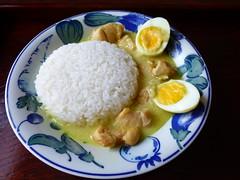 Opor Ayam (human-faced bun) Tags: food chicken milk coconut egg foodporn indonesian ayam opor