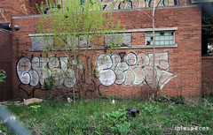 (Into Space!) Tags: street city abandoned mi graffiti photo decay chief detroit nb graff bombing throw rundown fill rusl fillin throwie cfish intospace ftmd rusle intospaces