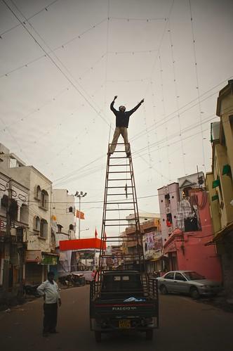 """# 203 Fixing the Lights for """"Bonalu Festival"""""""