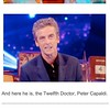 Not sure who Peter Capaldi is and not sure how I will like him, but for better or worse, hes the new Doctor. #whovian #drwho