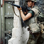 04 Feb 1968, Hue - American Marine Holding M16 Rifle During Vietnam War - Image by © Bettmann/CORBIS thumbnail