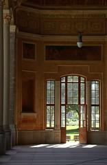 Baden-Baden, Kaiserallee, Trinkhallenportikus (pump house portico) (HEN-Magonza) Tags: door germany deutschland badenbaden tr pumphouse portico badenwrttemberg trinkhalle portikus kaiserallee