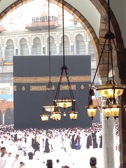 Kaabah (kijal) Tags: saudiarabia mecca kijal makkah iphone kaabah 2013 baitullah iphone5 masjidilharam 1434h uploaded:by=flickrmobile flickriosapp:filter=nofilter