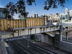 _IGP3493_from_raw (Ed Hurst, Spiffing Pics (1/2 million+ views - ta!)) Tags: station metal closed track 1988 sydney australia demolition gone cables wires farewell cutting newsouthwales monorail removal scrapping dismantling blowtorch supports 2013