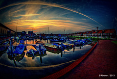 Reitdiephaven ,Groningen stad,the Netherlands,Europe (Aheroy) Tags: reitdiephaven haven harbour tonemapped town singlerawhdr stad nederland fisheye netherlands groningen clouds beautifulgroningen aheroy aheroyal architecture art canonef815mmf4lfisheye different dutch europe holland street port hafen oporto 港 gǎng minato
