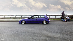 Jake Looney's Purple EH Civic Hatchback (Eric Shell) Tags: eh honda eric purple jake shell stretch poke civic ek looney build dayton h20 2012 slammed camber tuck fitment xxr eshelldesigns