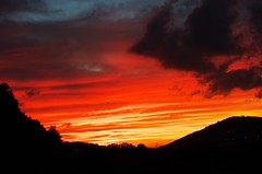 sunset colors #2 (ΞSSΞ®®Ξ) Tags: blue light sunset red sky italy black colors yellow clouds composition landscape photography countryside day mood view pentax cloudy scenic silhouettes depth vastness lazio k5 ξssξ®®ξ