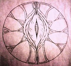Mandala? (MoistAlabaster) Tags: mandala doodle vagina attempt labiaminora