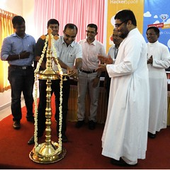 """19-10-2013 Hacker Space   at Albertian Institute of Sceince and Technology -  Inauguration by Mr. Varghese Daniel, CEO and founder, Wrench Solutions PVT Ltd • <a style=""""font-size:0.8em;"""" href=""""http://www.flickr.com/photos/98005749@N06/10604490436/"""" target=""""_blank"""">View on Flickr</a>"""