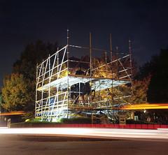 Castleman Monument (deatonstreet) Tags: longexposure 120 film night kodak kentucky louisville 100 automat flexaret ektar