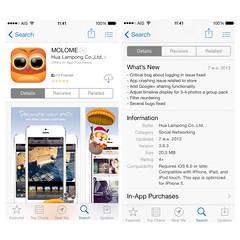 MOLOME for iOS got an update: Fix annoying auto-logout bug, Google+ sharing enabled. Update now on App Store!  MOLOME for iOS อัพเดตเวอร์ชั่นใหม่ แก้บั๊ก login หลุดและอีกหลายๆบั๊ก เพิ่มฟังก์ชั่นให้แชร์ออก Google+ ได้แล้ว อัพเดตเลยบน App Store ครับ