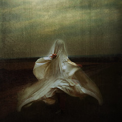 a dance of the birds in C minor for the kings of the valley (Thomas Oscar Miles) Tags: portrait selfportrait art yellow painting photography photo saturated emotion fineart ghost squareformat british edit whimsical bedsheet conceptualphotography
