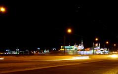 Lenin dam | Ленинская дамба (Aleks Wojt) Tags: road lenin winter snow heritage night river sharif frozen frost kul russia dam muslim islam mosque unesco freeze kol mole dyke dike volga kremlin kazan digue tatar tatarstan qol qolşärif