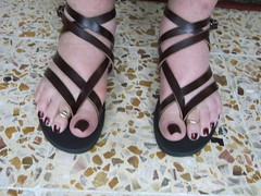 DSCF2369 (sandalman444) Tags: color male feet long sandals nail pedicure care toenails pedicured toerings mensfeet