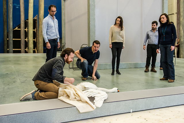 The cast in rehearsals for Parsifal ©ROH/Clive Barda, 2013
