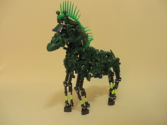 Horse of a Different Color (13) (origamiguy1971) Tags: horse green lady bionicle adrienne moc afol esseltine origamiguy origamiguy1971 affol