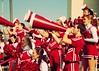 Pep Rally (SOMETHiNG MONUMENTAL) Tags: red fall college football nikon spirit indiana cheerleader bloomington indianauniversity iu 2009 peprally megaphone d60 oakenbucket somethingmonumental mandycrandell