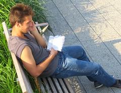 Great shot! (ManontheStreet2day) Tags: newyork man male hunk crotch sneakers jeans bluejeans biceps stud bulge