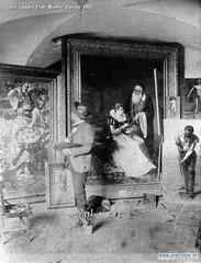 Giulio Cesare Prati Mentre dipinge 1895