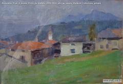 Romualdo Prati Il monte Pizzo da Vattaro (1910-1914) olio su tavola 25x36cm Collezione privata