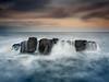 Black Hole, Howick (Alistair Bennett) Tags: sunset seascape evening coast rocks northumberland blackhole howick craster polariser canonef1740mmƒ4lusm gnd075he gnd045se