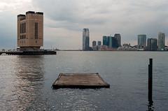 (Donstahl) Tags: newyorkcity lake newyork water landscape pier minolta manhattan hudsonriver portra xd11 chelseapiers