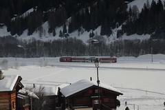 MGB Triebwagen Nr. 51 Mustr im Goms - Obergoms im Kanton Wallis - Valais in der Schweiz (chrchr_75) Tags: train schweiz switzerland suisse swiss eisenbahn zug christoph svizzera bahn treno schweizer wallis januar valais mgb 2014 suissa chrigu goms 1401 janaur bahnen obergoms chrchr kantonwallis hurni chrchr75 chriguhurni kantonvalais albumbahnenderschweiz chriguhurnibluemailch januar2014 hurni140113 albummgbmatterhorngotthardbahn