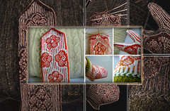 "Mittens ""Flowers"" (tarelkaz1) Tags: flowers two macro collage crazy flora knitting memories experiment stranded handknitting topshots flickraward folkknitting theoriginalgoldseal ipiccy"