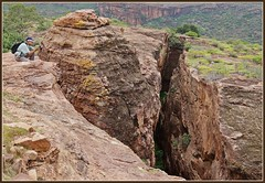 Badami cliffs and canyons (indianature13) Tags: india mountains nature rocks fort cliffs karnataka rockclimbing badami fissure asi northkarnataka indiatourism archaeologicalsurveyofindia karnatakatourism 2013 indianature vatapi colouredcliffs colouredmountains badamifort bagalkotdistrict badamicliffs badaminorthfort rockclimbingbadami northkarnatakatourism