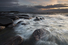 Waves at Grytudden (- David Olsson -) Tags: sunset oktober lake seascape motion water clouds landscape movement nikon october rocks waves sundown cloudy sweden stones windy filter flowing fx grad vr vnern d800 hammar vrmland 1635 1635mm lakescape gnd skoghall 2013 leefilters davidolsson 06hard 1635vr grytudden sknavrmland