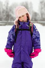 No title. (MikaelWiman) Tags: winter snow girl kids portraits children se sweden karlstad cap snowing vrmland