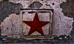 The Lone Star (Explore!) (SCOTTS WORLD) Tags: red urban usa detail texture digital fun star restaurant midwest downtown december unitedstates decay michigan exploring urbandecay detroit olympus gritty adventure exploration crusty urbanexploring urbex 313 motown motorcity