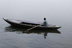 ganga punt reflection (Seakayem) Tags: india 35mm river boat sony varanasi f18 slt ganga ganges ghats ghat gangesriver uttarpradesh a55 maninaboat