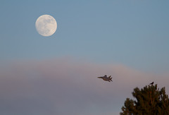 F15 with the moon (Nick Collins Photography, Thanks for 2.1 million v) Tags: flying eagle strike usaf raf ln f15 lakenheath 48fw usafe {vision}:{outdoor}=0989 {vision}:{mountain}=0706 {vision}:{sky}=0984 {vision}:{sunset}=0602 {vision}:{clouds}=082