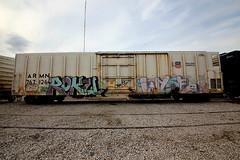 (o texano) Tags: bench graffiti texas houston trains dts d30 roku freights wyse a2m benching