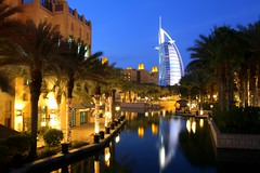 Dubai, Madinat Jumeirah with Burj al Arab (Frans.Sellies) Tags: night dubai uae clear emirates unitedarabemirates   img1150