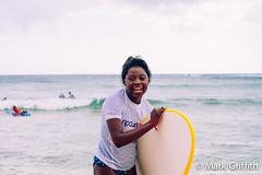 Happy Surfer Girl (Mark Griffith) Tags: hawaii surfing kauai sofigriffith surfergirl kiahunabeach 20140408dsc1975