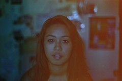 Christina (zoe.hedquist) Tags: portrait people film beautiful beauty face 35mm 50mm pretty f14 grain sigma konica process kodakfilm colorfilm konicaft1 konicaft1motor kodakfilms konicafilms