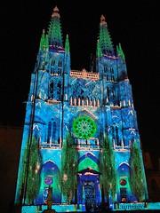 """""""La Catedral encantada' en La Noche Blanca de Burgos (Lumiago) Tags: espaa spain catedral colores noctu"""