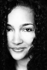 Gladys (konicus) Tags: portrait woman monochrome beautiful face closeup blackwhite gesicht naturallight portrt monochrom schwarzweis konicus