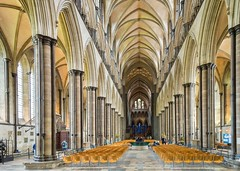 Salisbury Cathedral, Wiltshire (JackPeasePhotography) Tags: camera uk greatbritain travel bridge windows light england reflection building tower church glass beautiful abbey stone architecture bells contrast french landscape photography flying photo big high nikon holidays europe glow colours cathedral dominate interior south gothic arts victorian churches cathedrals statues happiness arches stainedglass belltower east spire architect international nave views salisbury dslr wiltshire distance bournemouth perpendicular priory attraction purbeck flyingbuttresses buttresses vaulting earlyenglish southwestengland d3200