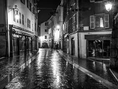 Rainy Night in Annecy (MaxLightCapture) Tags: city blackandwhite france alps annecy rain night canon lights 6d 1740l
