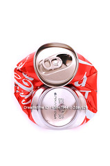 Coca Cola (2day929) Tags: red white aluminum drink coke can environment cocacola waste recycle recycling pressure crushed softdrink reuse