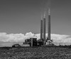 Navajo Generating Station (addddee) Tags: arizona chimney blackandwhite bw cloud monochrome clouds canon sigma t3 powerplant coal dslr 1835 pagearizona navajonation navajogeneratingstation arizonausa canont3