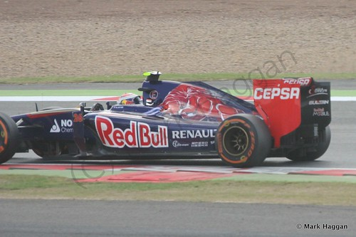 Daniil Kvyat in his Toro Rosso during the 2014 British Grand Prix